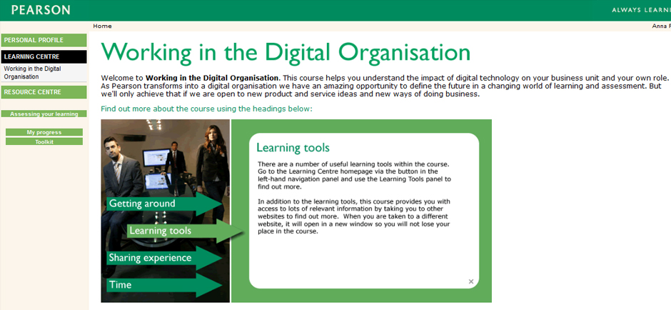 Digital Foundation elearning courses, Pearson