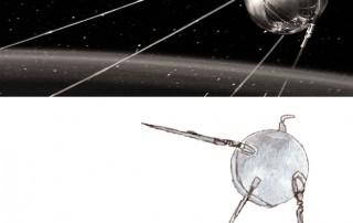 Sputnik 1 (top image © Science Museum)
